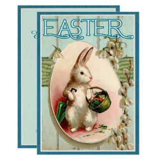 Convite da ilustração do coelhinho da Páscoa do