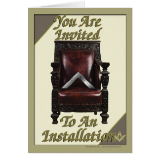 Convite da instalação