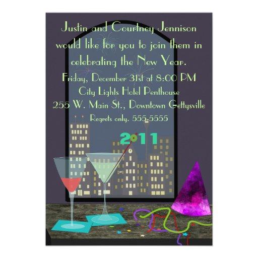 Convite da janela da véspera de Ano Novo