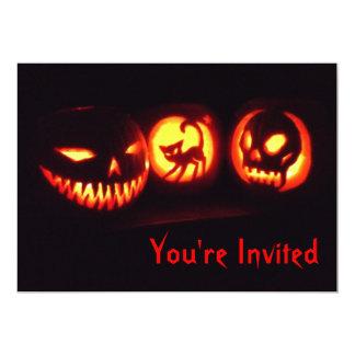 Convite da lanterna do Dia das Bruxas Jack o