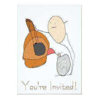 Convite da lição da guitarra