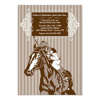 Convite da listra do cavalo e do jóquei