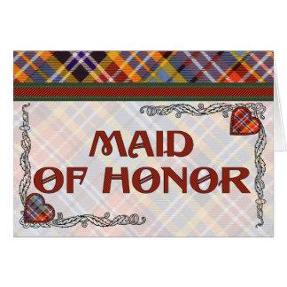 Convite da madrinha de casamento - Tartan de Cartão Comemorativo