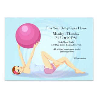 Convite da malhação da bola do exercício convite 12.7 x 17.78cm