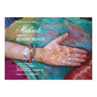 Convite da mão de Mehndi
