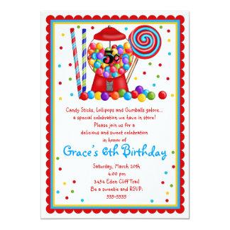 Convite da máquina de Gumball