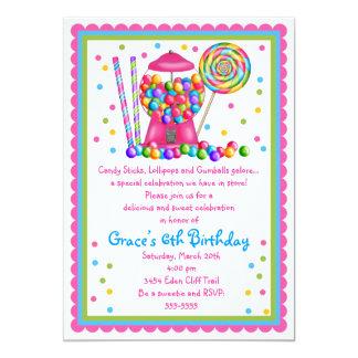Convite da máquina e dos doces de Gumball