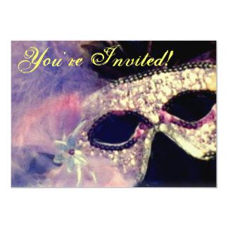 Convite da máscara do carnaval