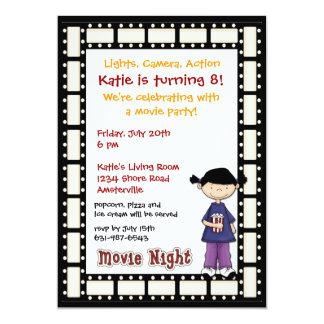 Convite da menina do filme