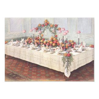 Convite da mesa de banquete do casamento vintage