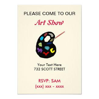 Convite da mostra de arte