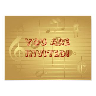 Convite da música - convite da nota da música do