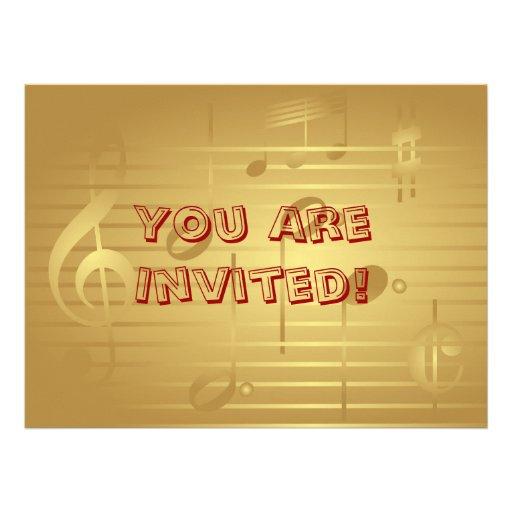 Convite da música - convite da nota da música do o
