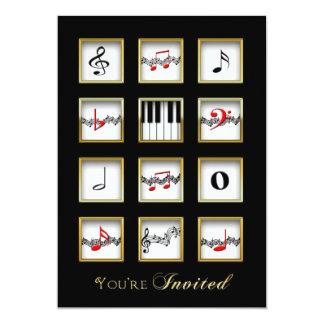 Convite da música - notas/teclado