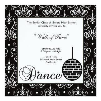Convite da noite de baile de formatura