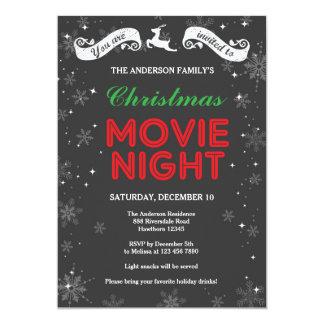 Convite da noite de cinema do Natal, filme do