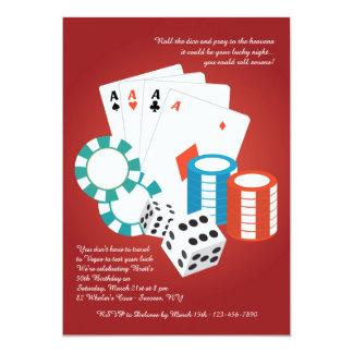 Convite da noite do casino