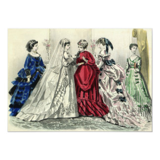 Convite da noiva do casamento do Victorian do