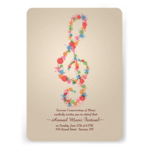 Convite da nota da música