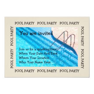 Convite da opinião da piscina da festa na piscina