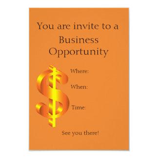 Convite da oportunidade de negócio