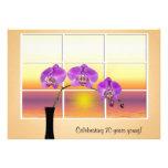 Convite da orquídea do aniversário