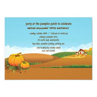 Convite da paisagem da queda convite 12.7 x 17.78cm