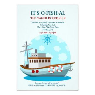 Convite da pesca do barco do partido