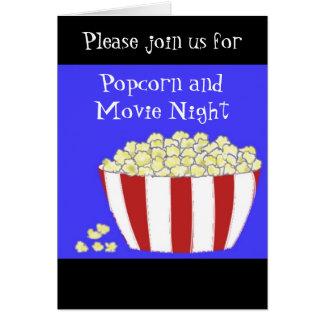 Convite da pipoca e da noite de cinema