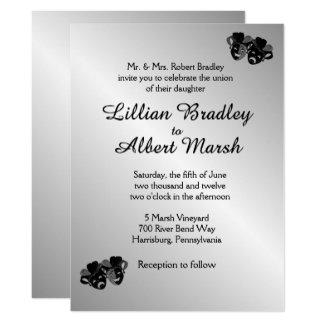Convite da prata do casamento do teatro