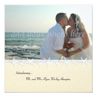Convite da recepção de casamento da foto da