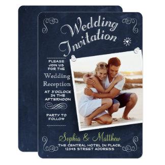 Convite da recepção de casamento da foto | do
