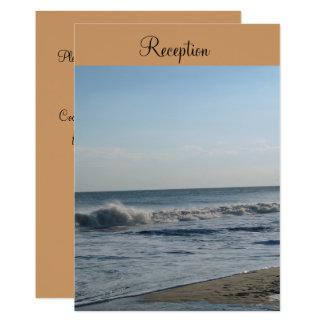 Convite da recepção de casamento da praia e da