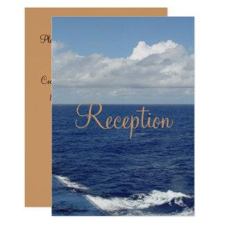 Convite da recepção de casamento das ondas de