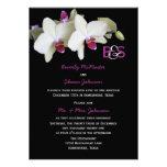Convite da recepção de casamento do cargo,