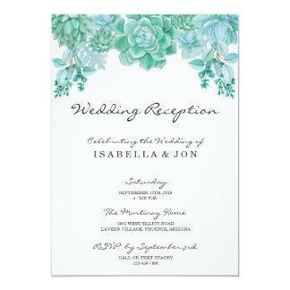 Convite da recepção de casamento do Succulent