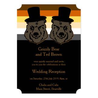 Convite da recepção do orgulho do ouro e do urso convite 12.7 x 17.78cm