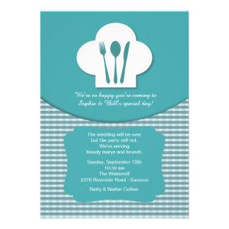 Convite da refeição matinal do casamento do cargo