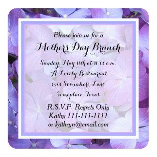 Convite da refeição matinal do dia das mães -- convite quadrado 13.35 x 13.35cm