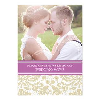 Convite da renovação do voto de casamento da foto