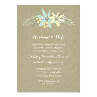 Convite da renovação do voto de casamento do