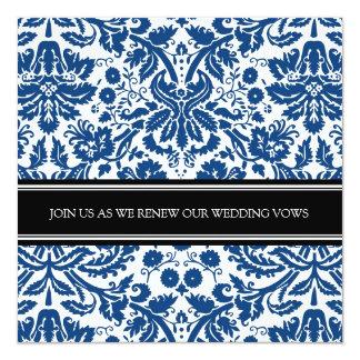 Convite da renovação do voto de casamento do preto