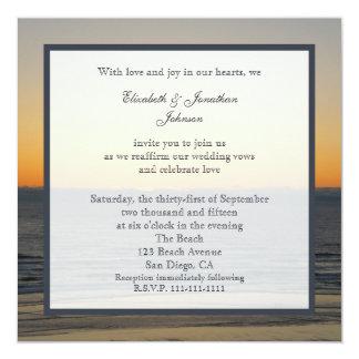 Convite da renovação do voto de casamento --  Por