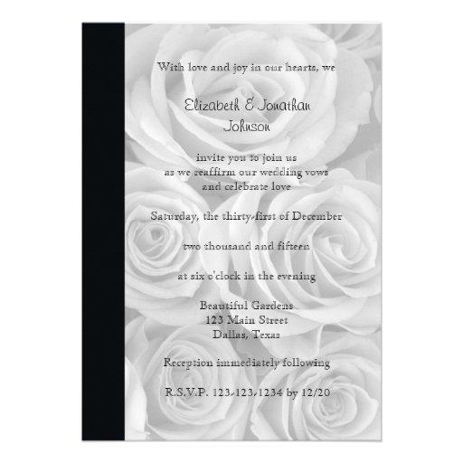Convite da renovação do voto de casamento --  Rosa