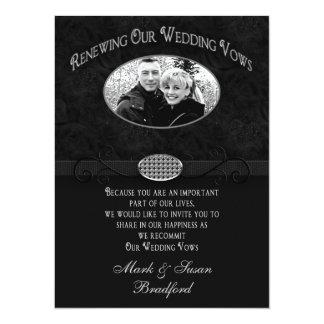 Convite da renovação dos votos de casamento