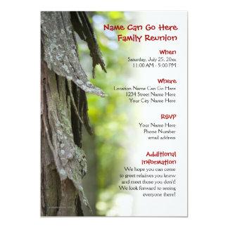 Convite da reunião de família da floresta