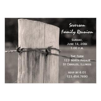 Convite da reunião de família do cargo da cerca