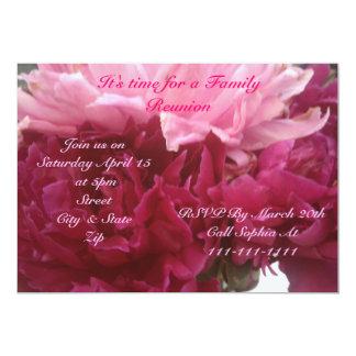 Convite da reunião de família do primavera e do