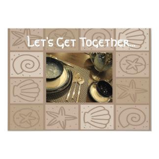 Convite da reunião do almoço convite 12.7 x 17.78cm