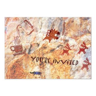 Convite da ruptura de café do desenho da caverna convite 12.7 x 17.78cm